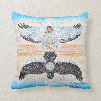 Crow Woman Throw Pillow -Artwork on Front and Back