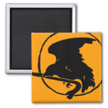 Crowbar Magnet black/yellow, Round and Square