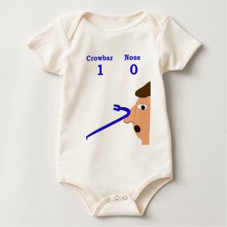 crowbar nose 2 baby bodysuit