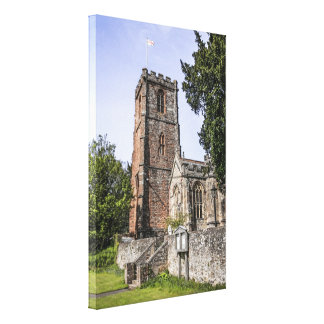 Crowcombe Church on Exmoor in Somerset England Canvas Print