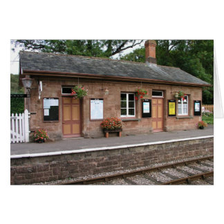 Crowcombe Heathfield station Somerset Card