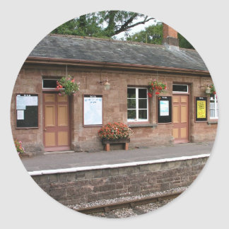 Crowcombe Heathfield station Somerset Classic Round Sticker
