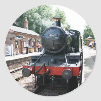 Crowcombe Heathfield station, WS Railway Classic Round Sticker