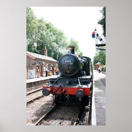 Crowcombe Heathfield station, WS Railway Poster