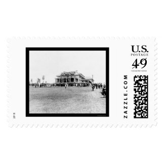 Crowd at the Columbia Country Club 1915 Postage Stamp