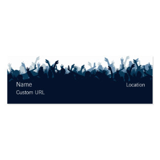 Crowd - Blue Double-Sided Mini Business Cards (Pack Of 20)