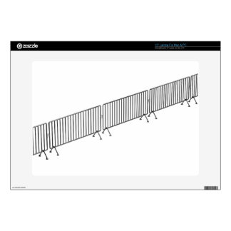 "Crowd control barriers 15"" laptop skin"