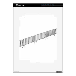 Crowd control barriers decal for the iPad 2