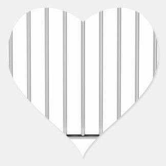Crowd control fence heart sticker