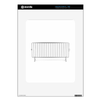 Crowd control fence skin for iPad