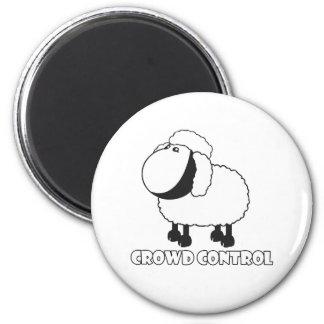 crowd control 2 inch round magnet