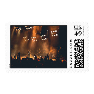 Crowd enjoys music concert stamps