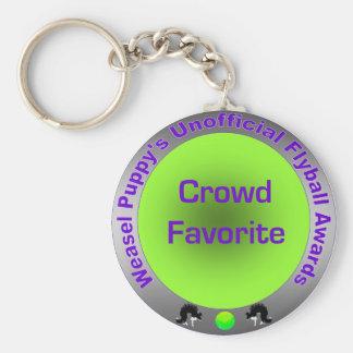 Crowd Favorite Unofficial Flyball Award Basic Round Button Keychain