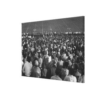Crowd in stadium canvas print