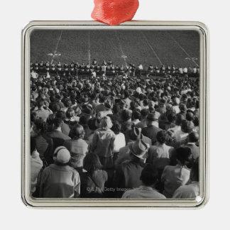 Crowd in stadium christmas ornament