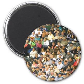 Crowd 2 Inch Round Magnet