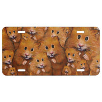 Crowd of Cute Hamsters, From Original Art, Animals License Plate