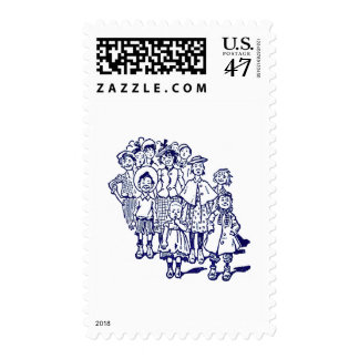 Crowd of Kids Postage