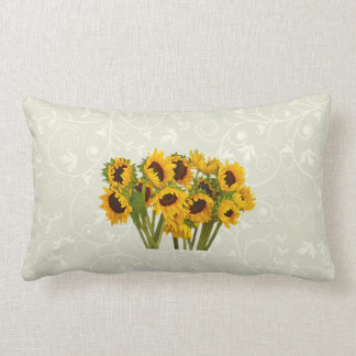 Crowd of Sunflowers Lumbar Pillow