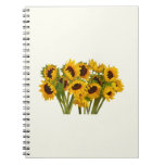Crowd of Sunflowers Spiral Note Books