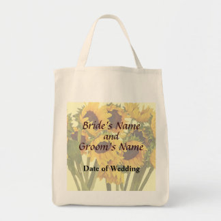 Crowd of Sunflowers Wedding Products Canvas Bag