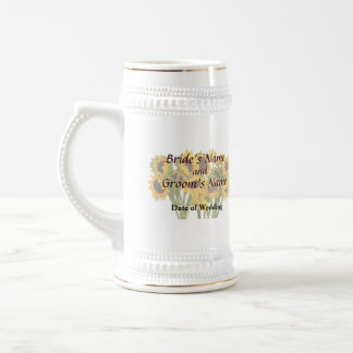 Crowd of Sunflowers Wedding Products Beer Stein