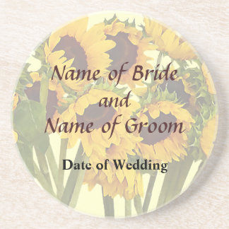 Crowd of Sunflowers Wedding Products Coaster