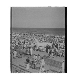 Crowd on Beach iPad Folio Covers