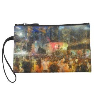 Crowd outside an event wristlet clutches