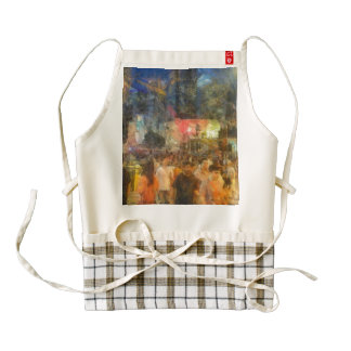 Crowd outside an event zazzle HEART apron