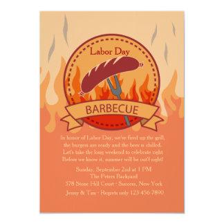 """Crowd Pleaser Barbecue Invitation 5"""" X 7"""" Invitation Card"""