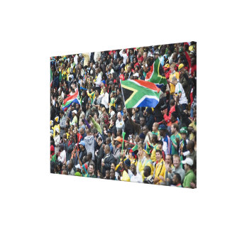 Crowd shot at a soccer game, with South African Gallery Wrap Canvas
