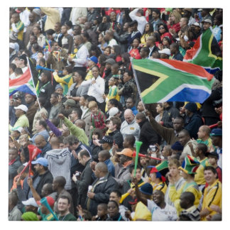 Crowd shot at a soccer game, with South African Ceramic Tile
