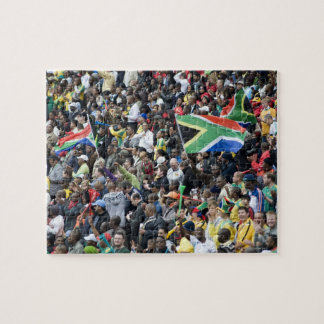 Crowd shot at a soccer game, with South African Jigsaw Puzzle