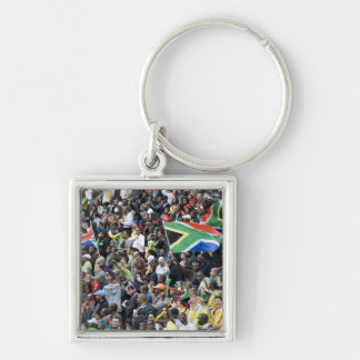 Crowd shot at a soccer game, with South African Key Chain