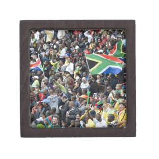 Crowd shot at a soccer game, with South African Premium Jewelry Boxes
