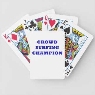 Crowd Surfing Champion Bicycle Playing Cards