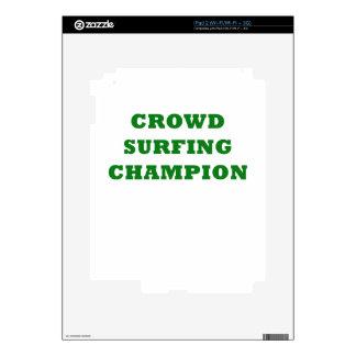 Crowd Surfing Champion iPad 2 Skin