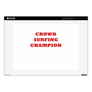 Crowd Surfing Champion Skins For Laptops