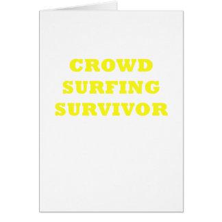Crowd Surfing Survivor Card