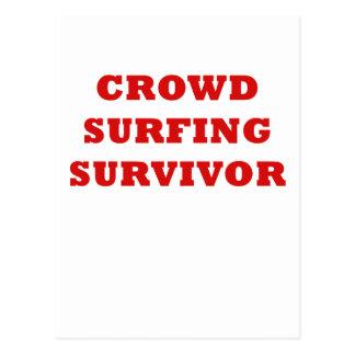 Crowd Surfing Survivor Postcard