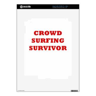 Crowd Surfing Survivor Skin For The iPad 2