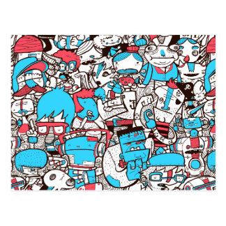 Crowded 2 postcard