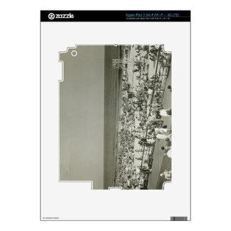 Crowded Beach iPad 3 Decal