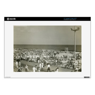 Crowded Beach Laptop Decal