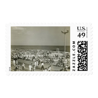 Crowded Beach Stamp