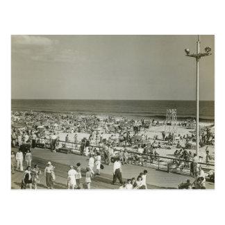 Crowded Beach Postcard