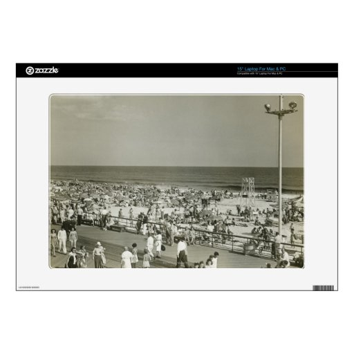Crowded Beach Skins For Laptops