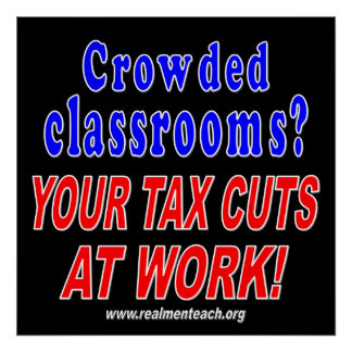 Crowded classrooms (black) posters