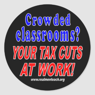 Crowded classrooms (black) stickers